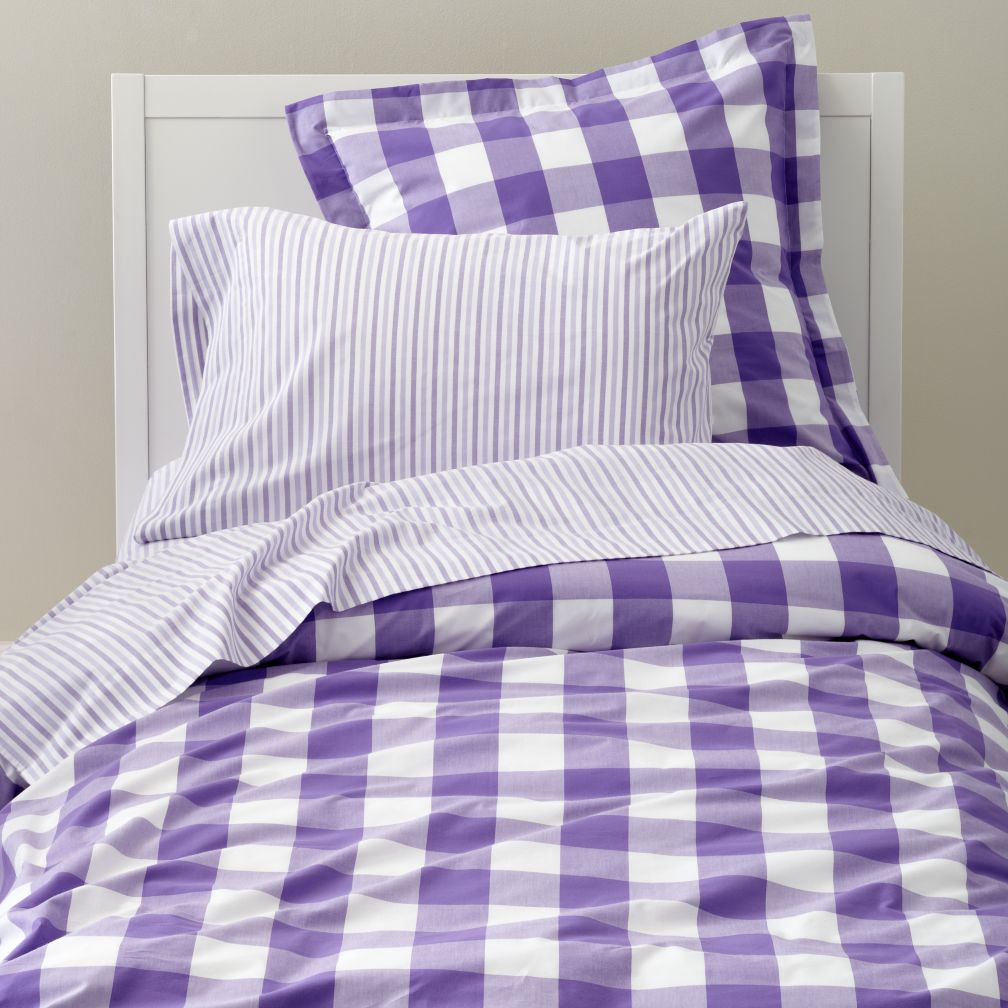 Breezy Gingham Bedding (Lavender)