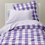 Breezy Gingham Duvet Cover (Lavender)