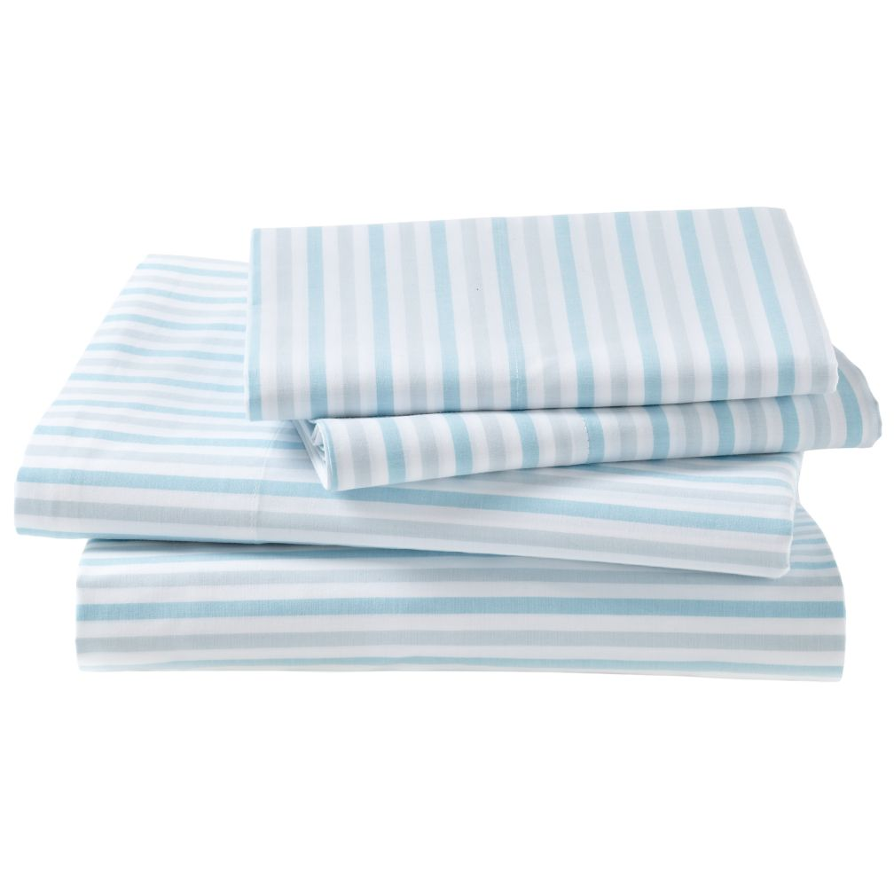 Breezy Stripe Sheet Set (Blue)