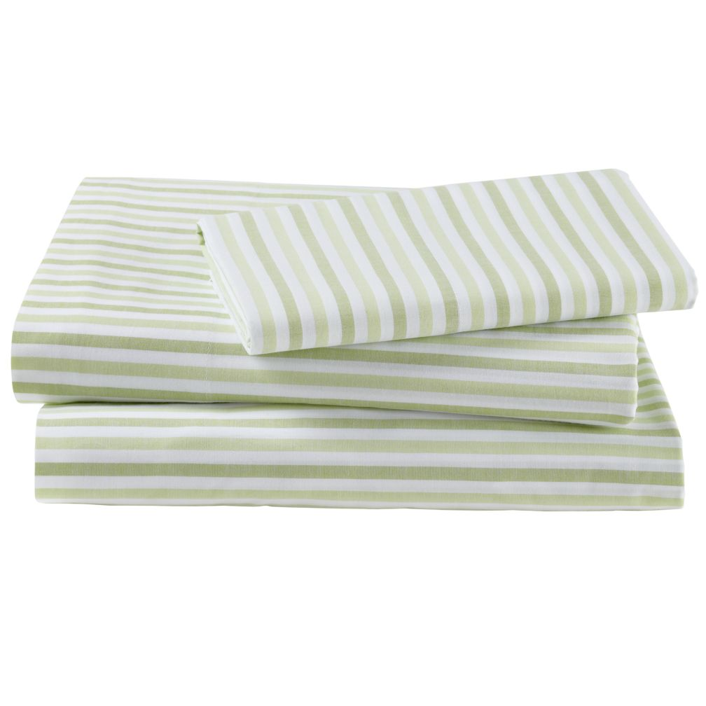 Breezy Stripe Green Sheet Set (Twin)