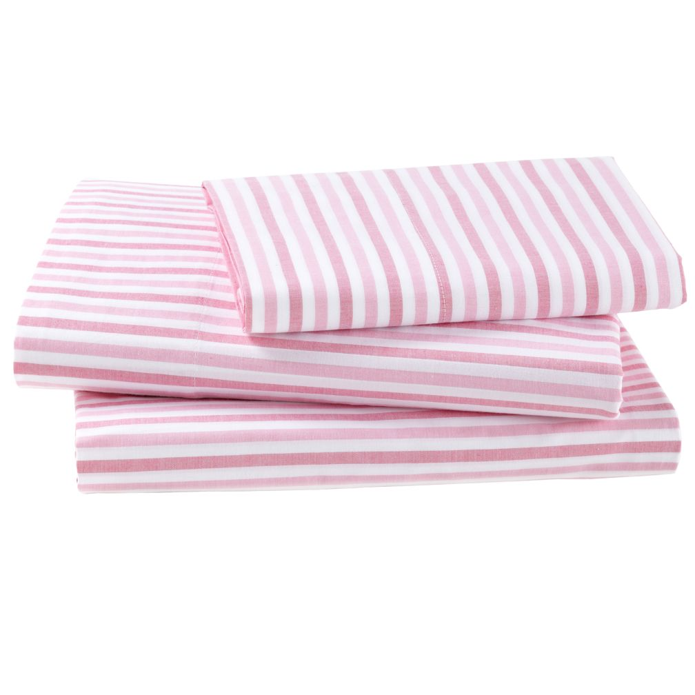 Breezy Stripe Hot Pink Sheet Set (Twin)