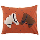 Orange Horses Equestrian Sham