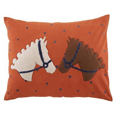 Equestrian Sham (Orange)