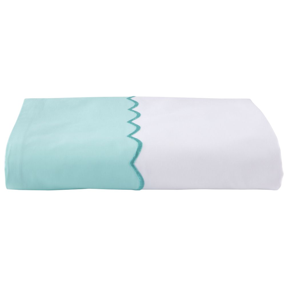 Extended Stay Teal Flat Sheet (Twin)