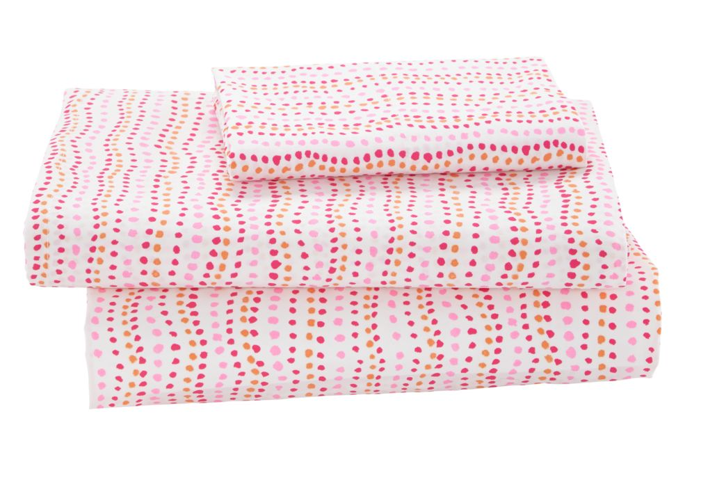Twin Fashionista Sheet Set<br /><br />Includes fitted sheet, flat sheet and one pillowcase