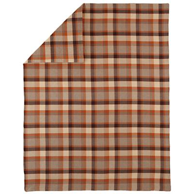 Twin Brown Plaid Flannel Duvet Cover