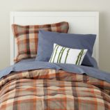 Brown Plaid Flannel Duvet Cover