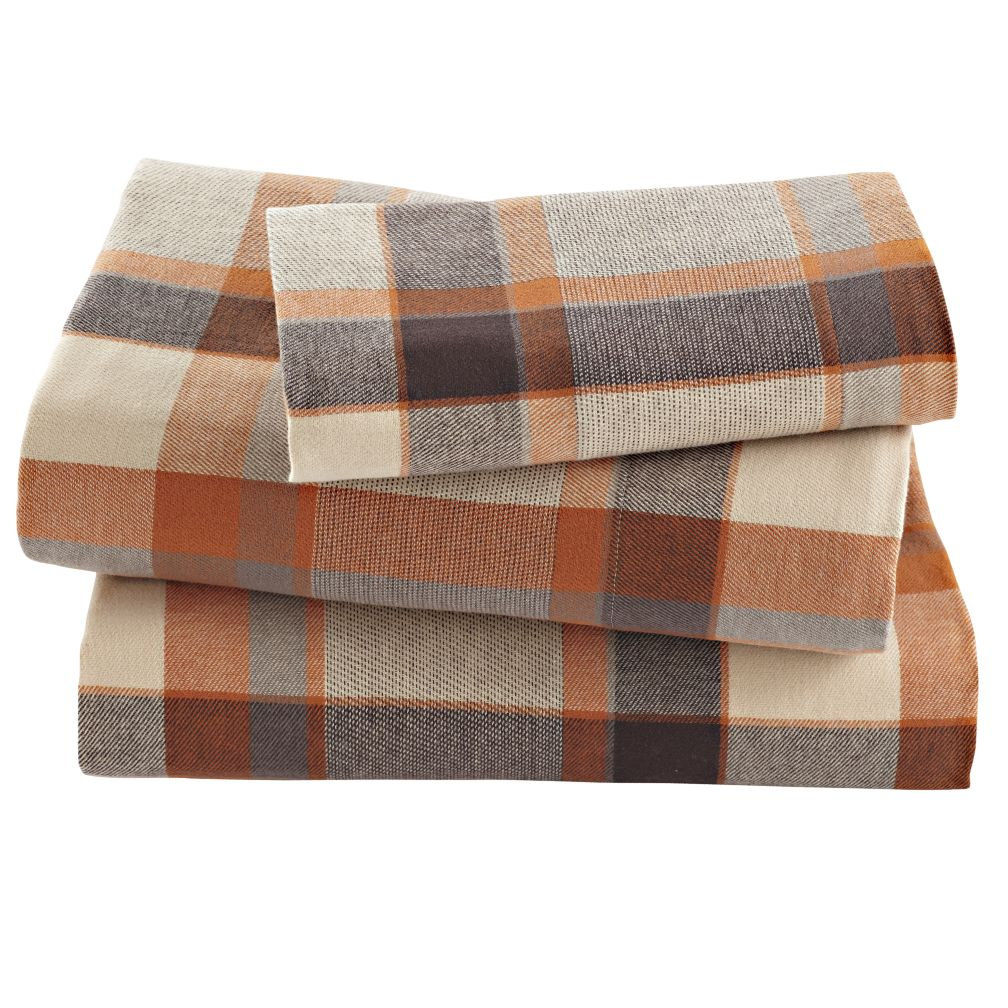 Flannel plaid sheets