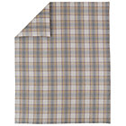 Twin Grey Plaid Flannel Duvet Cover