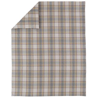 Grey Plaid Flannel Duvet Cover (Twin)
