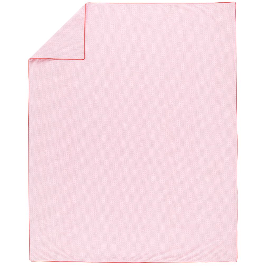 Printed Pink Diamonds Duvet Cover (Full-Queen)