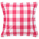 Hot Pink Gingham Euro Sham