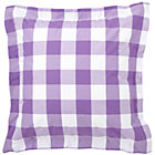 Lavender Gingham Euro Sham