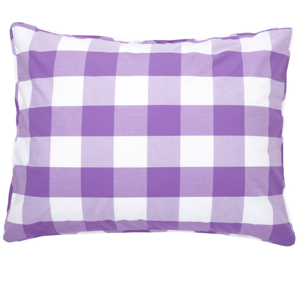 Lavender Gingham Sham