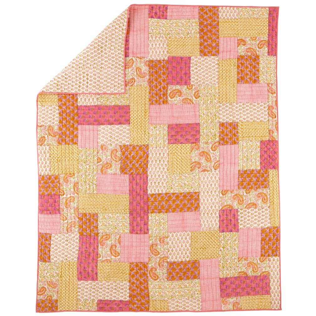 Handpicked Patchwork Quilt (Twin)