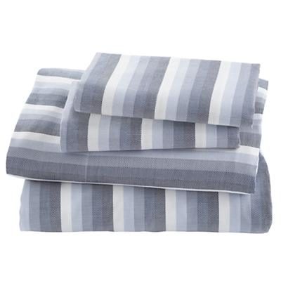 Blue Herringbone Sheet Set