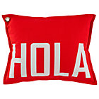 Set Red Hola Throw Pillow