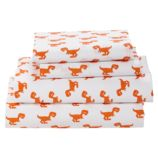 Queen Little Prints Sheet Set (Orange Dinosaur)