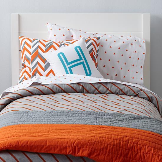 Little Prints Kids Bedding (Orange) | The Land of Nod