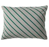 Little Prints Sham (Green Stripe)