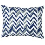 Little Prints Sham (Blue Zig Zag)