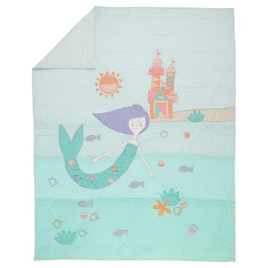 twin mermaid mixer quilt the land of nod. Black Bedroom Furniture Sets. Home Design Ideas
