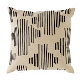 Mod Botanical Throw Pillow (Black Stripe)