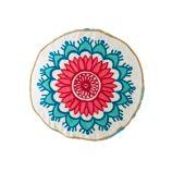 Modern Mosaic Round Floral Pillow