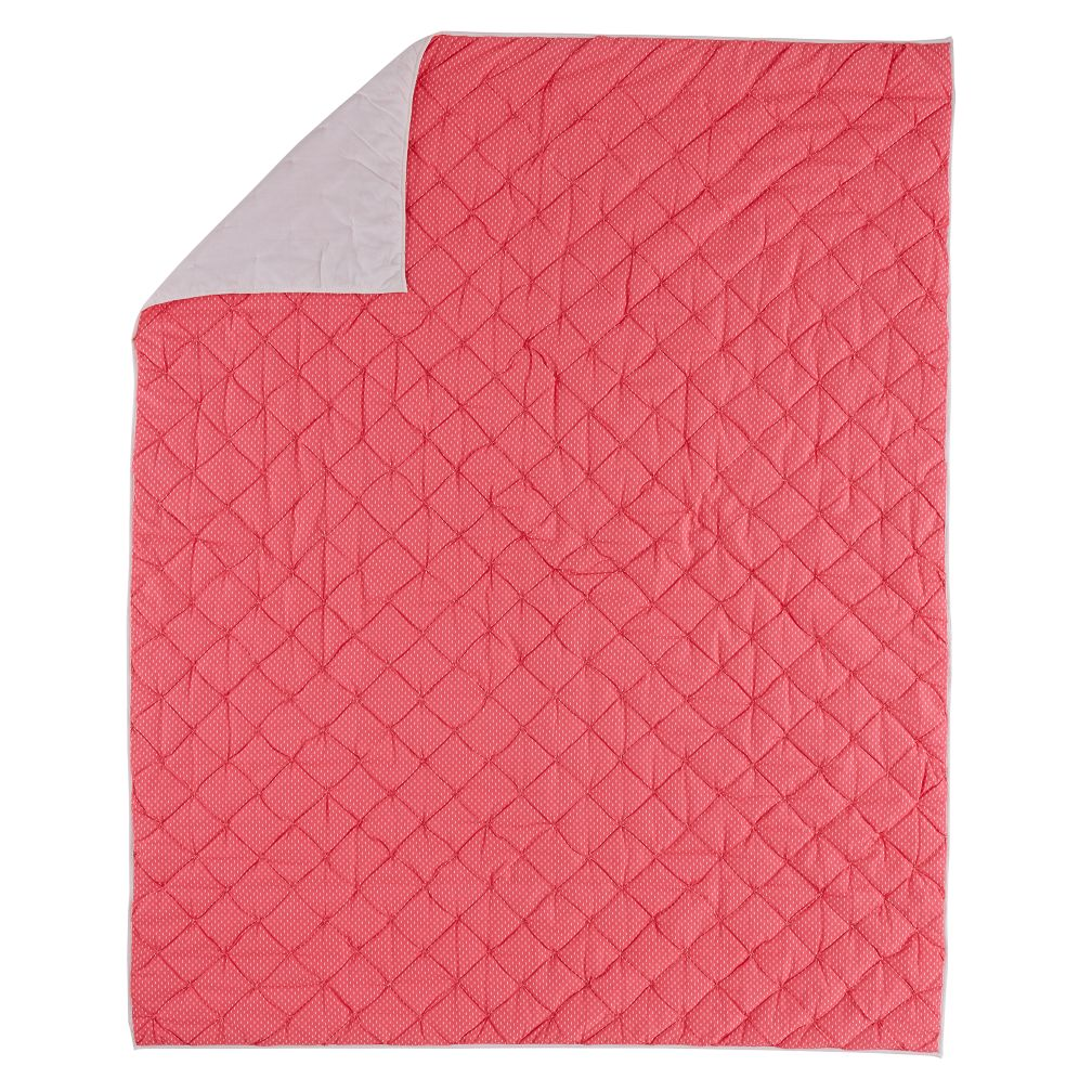 Twin Pink Neon Sprinkle Quilt