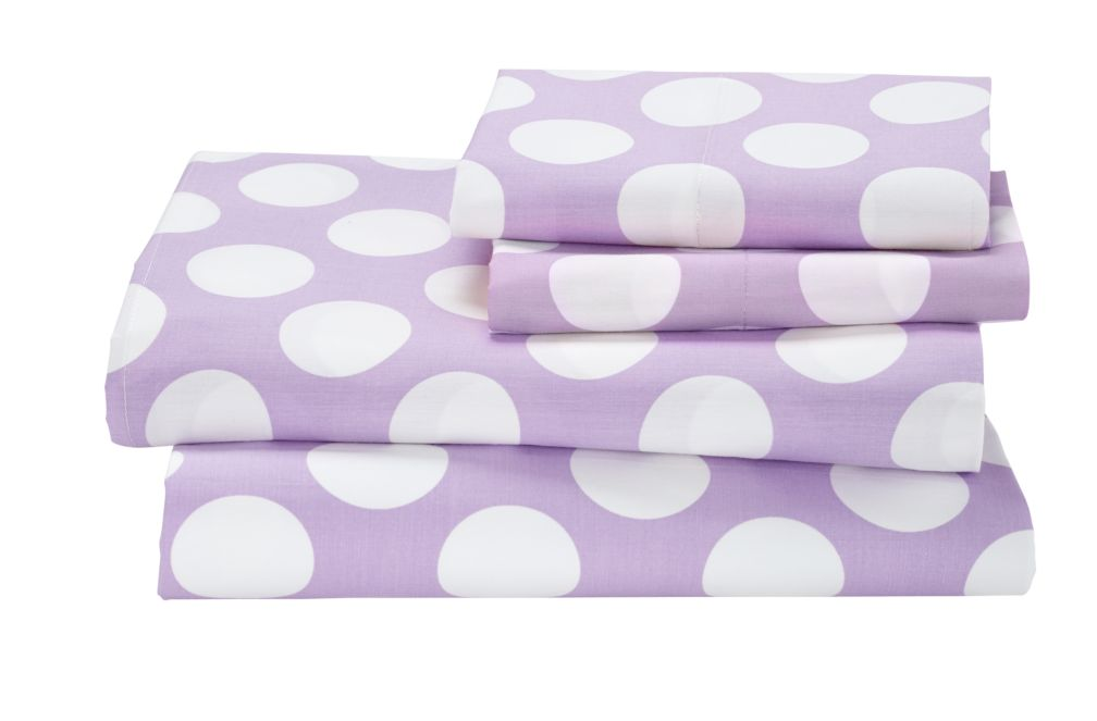 New School Sheet Set (Purple w/White Dot)