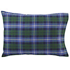 Blue Green Flannel Pillowcase