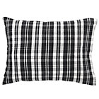 Black White Plaid Flannel Pillowcase