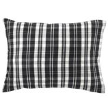 Northwoods Flannel Pillowcae (Black Plaid)