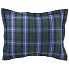 Blue Green Plaid Flannel Sham
