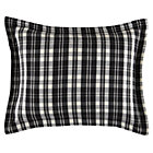 Black White Plaid Flannel Sham