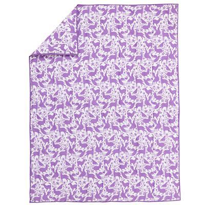 Animales Gráficos Lavender Comforter