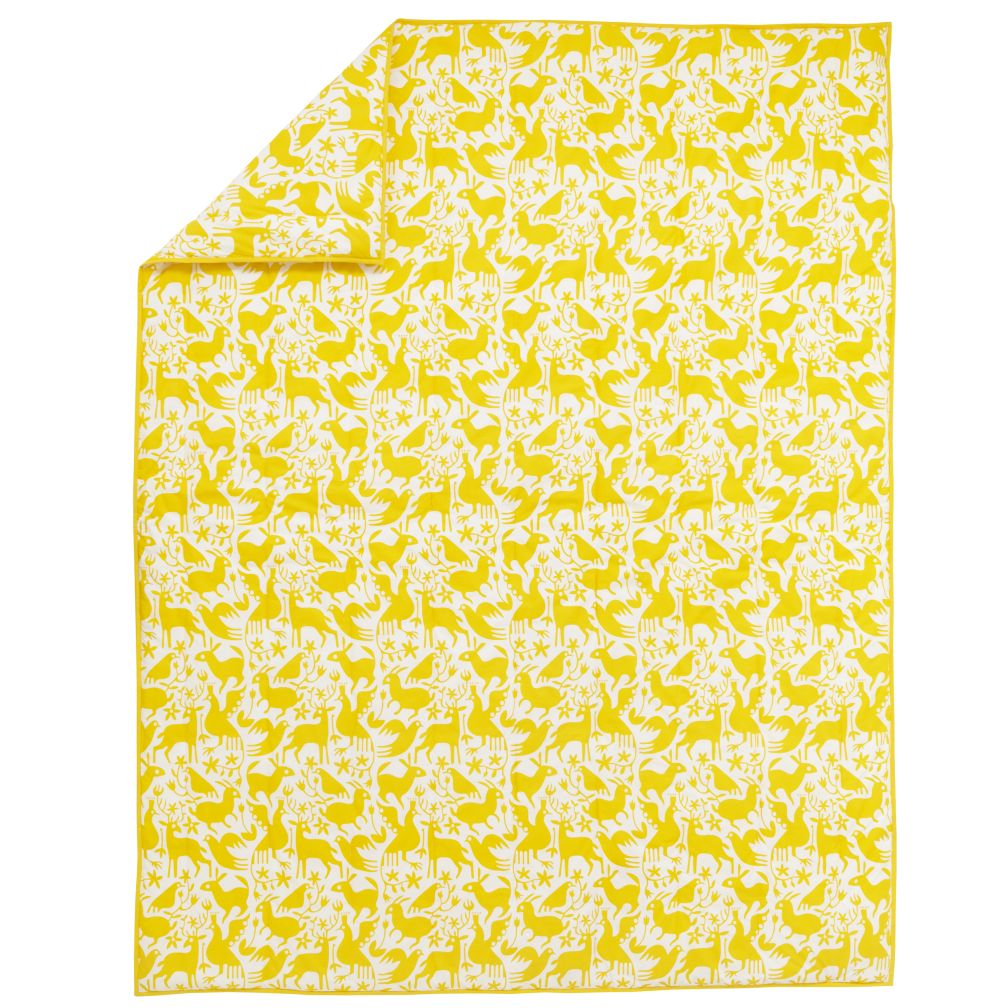Animales Gráficos Yellow Comforter (Full-Queen)