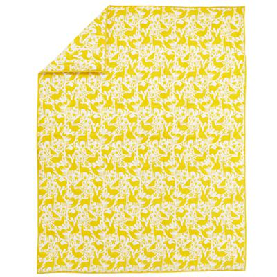 Animales Gráficos Yellow Comforter