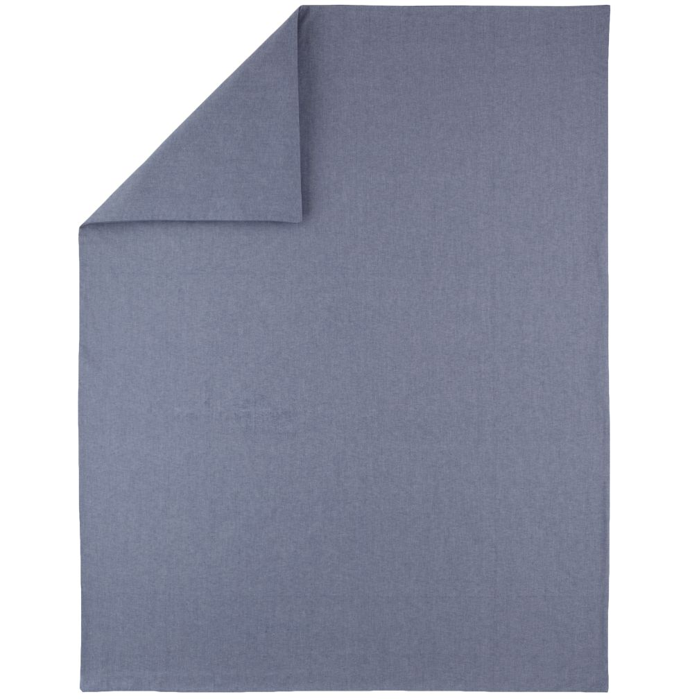 Twin Blue Chambray Duvet Cover
