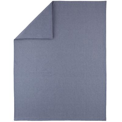 Full/Queen Blue Chambray Duvet Cover
