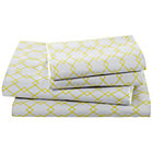 Full Grey DiamondsSheet Set(includes 1 fitted sheet, 1 flat sheet and 2 cases)