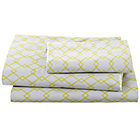 Twin Grey Diamonds Sheet Set(includes 1 fitted sheet, 1 flat sheet and 1 case)