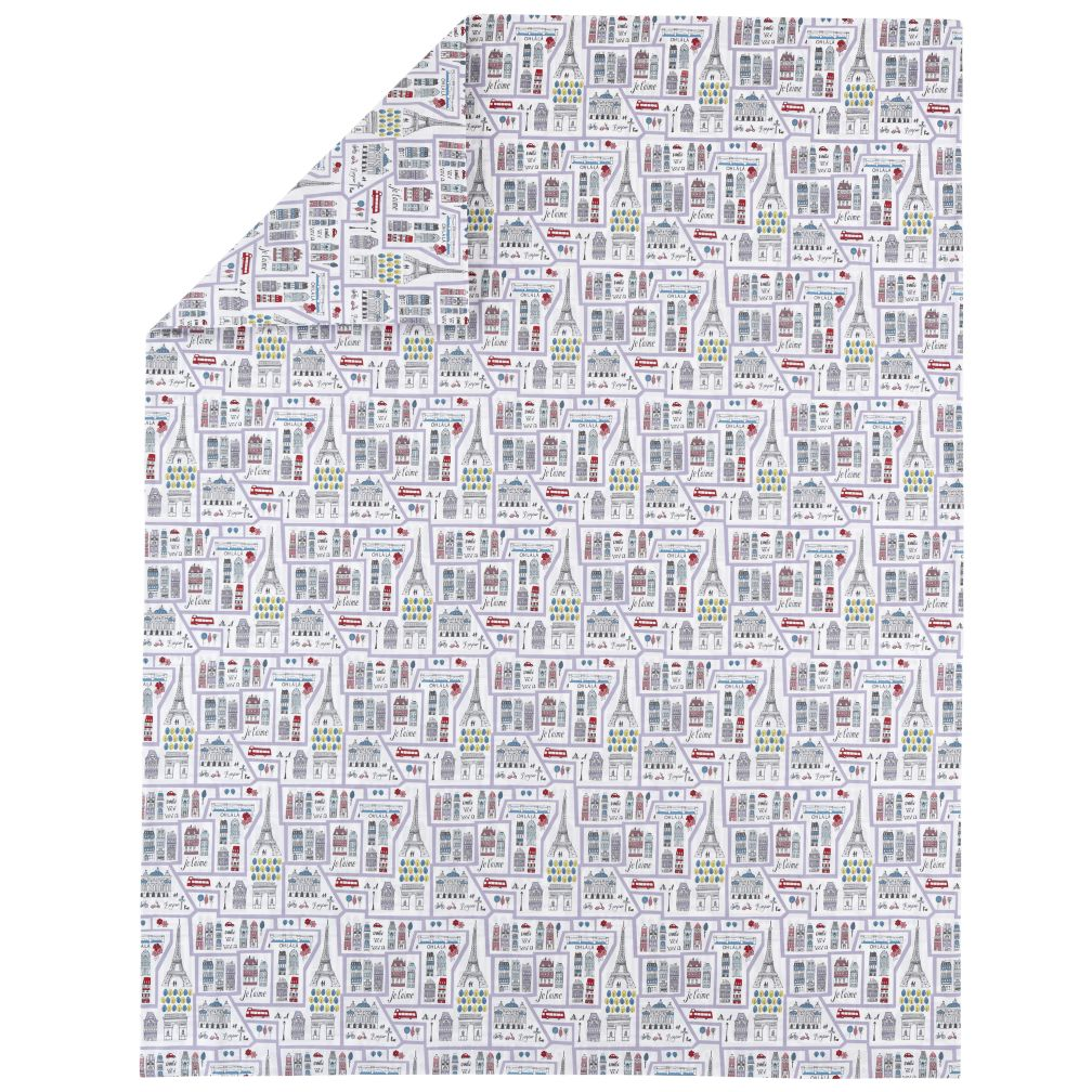 Full/Queen Streets of Paree Duvet Cover