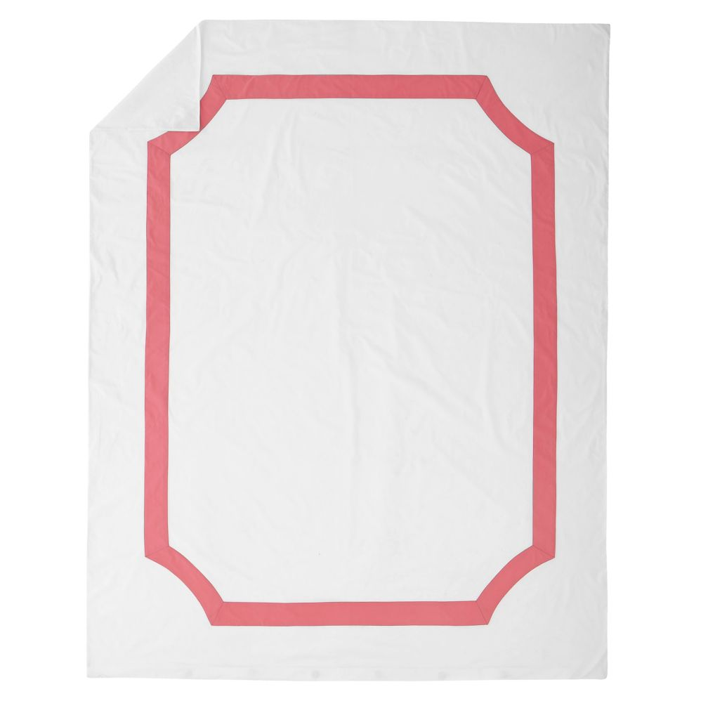 Twin Pink Bordeaux Duvet Cover