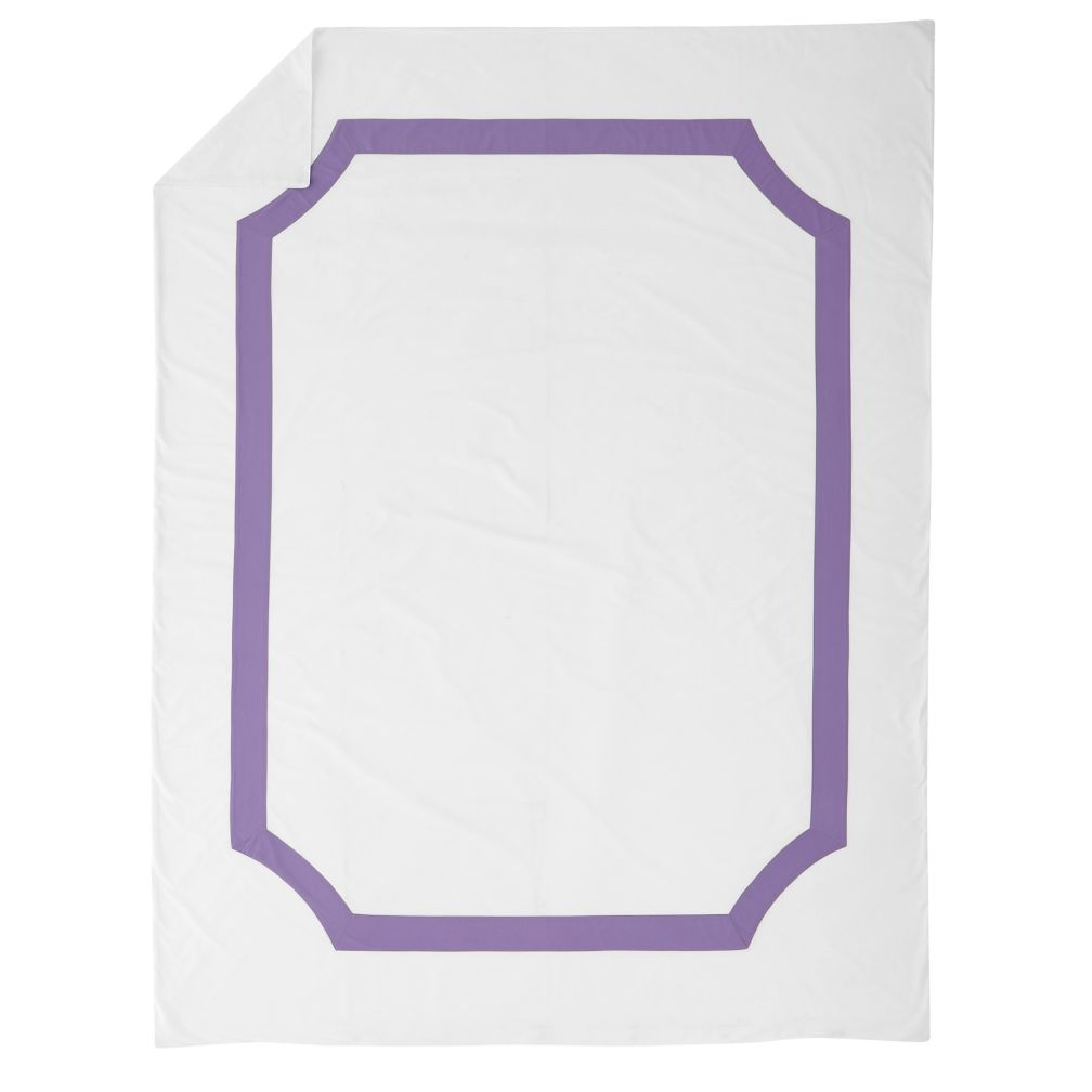 Twin Bordeaux Duvet Cover (Purple)