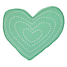 Lt. Green Heart Throw Pillow