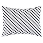 Grey Stripe Pattern Party Sham