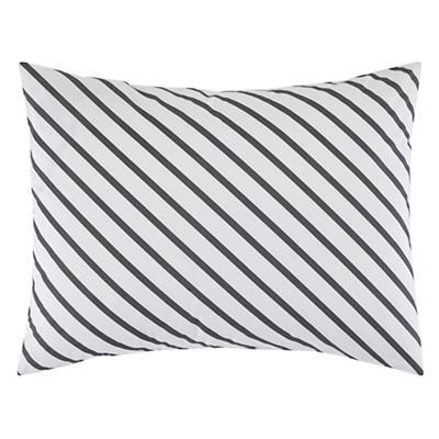 Pattern Party Sham (Grey Stripe)