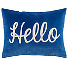 Blue Hello Throw Pillow