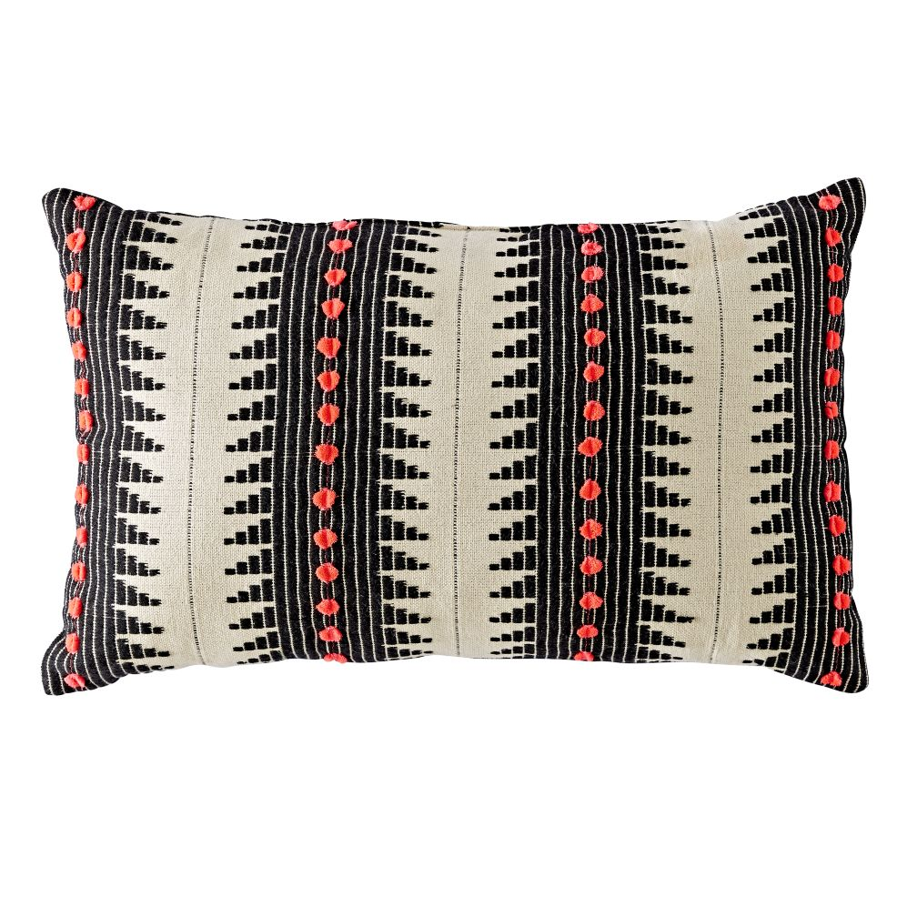 Black & White Stripe Throw Pillow
